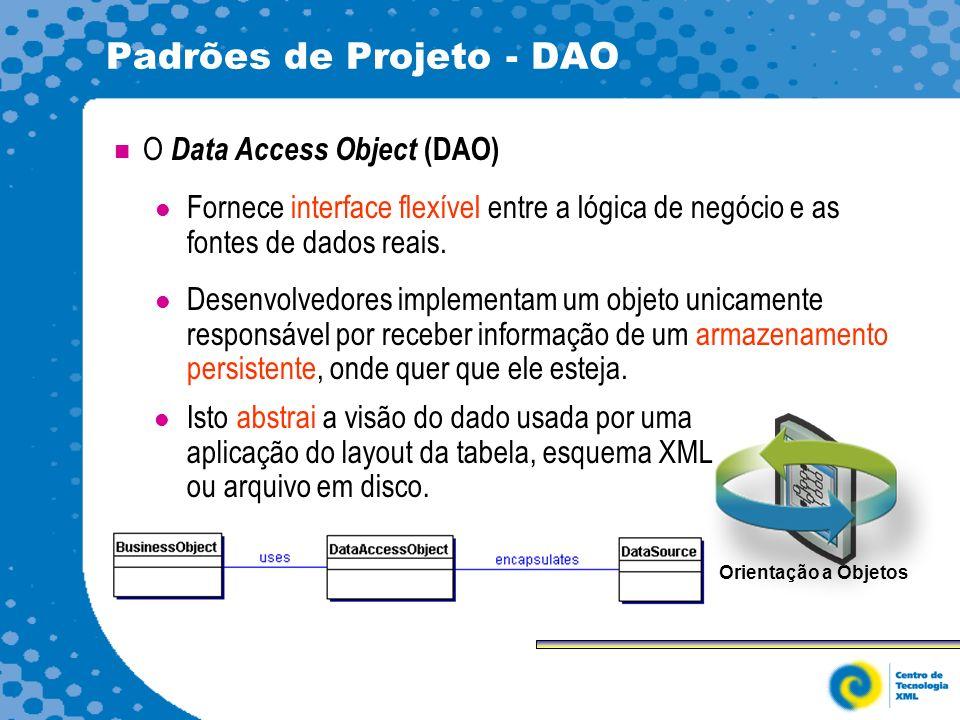 Padrões de Projeto - DAO