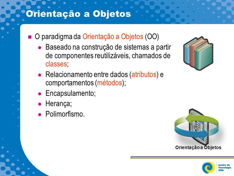 Orientação a Objetos O paradigma da Orientação a Objetos (OO)
