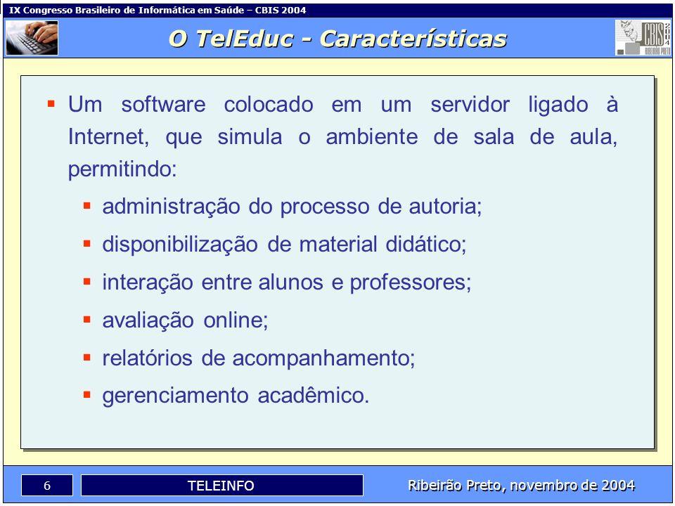 O TelEduc - Características