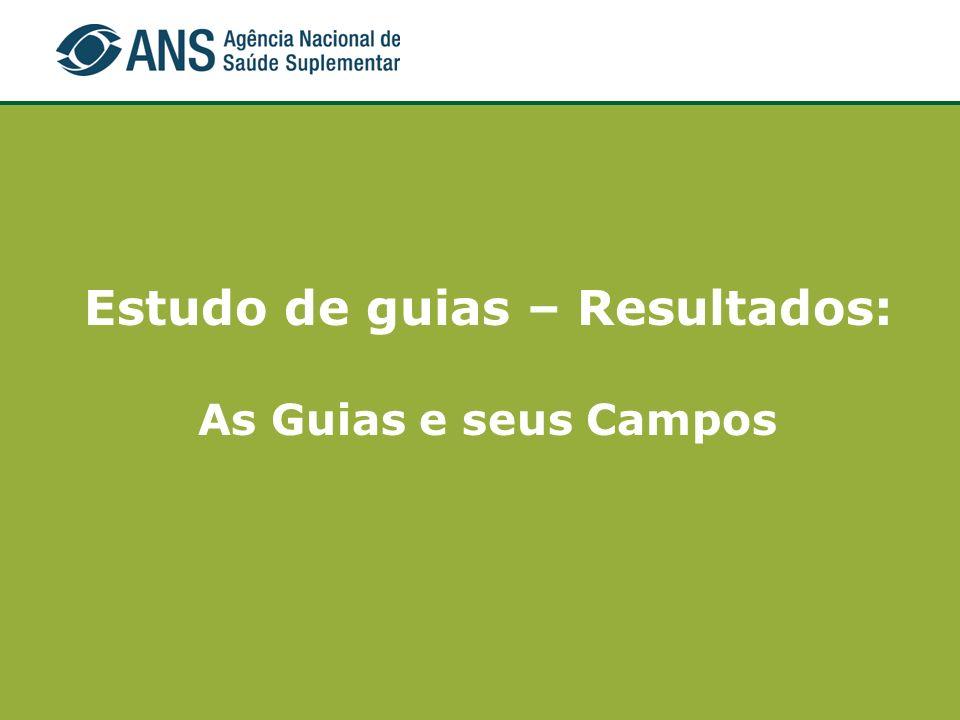 Estudo de guias – Resultados: As Guias e seus Campos