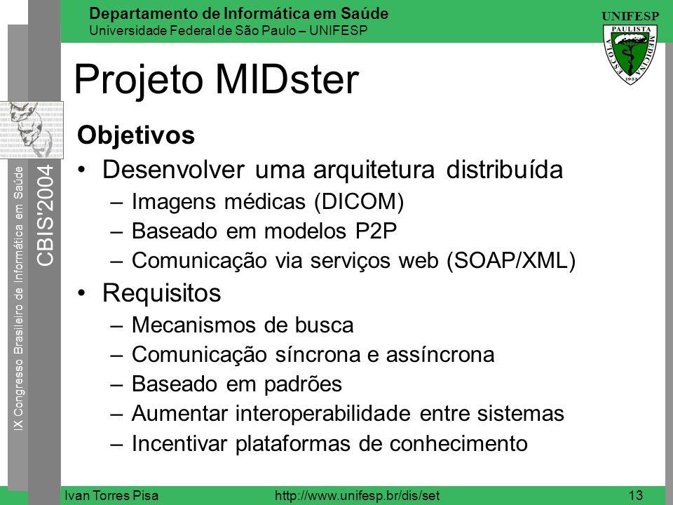 Projeto MIDster Objetivos Desenvolver uma arquitetura distribuída