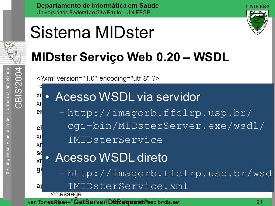 Sistema MIDster MIDster Serviço Web 0.20 – WSDL