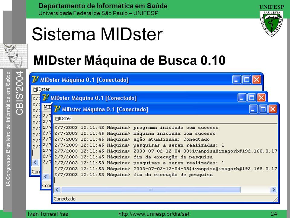 Sistema MIDster MIDster Máquina de Busca 0.10 Ivan Torres Pisa