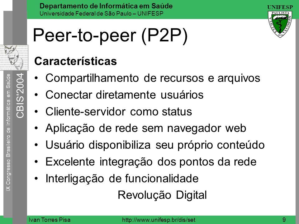 Peer-to-peer (P2P) Características