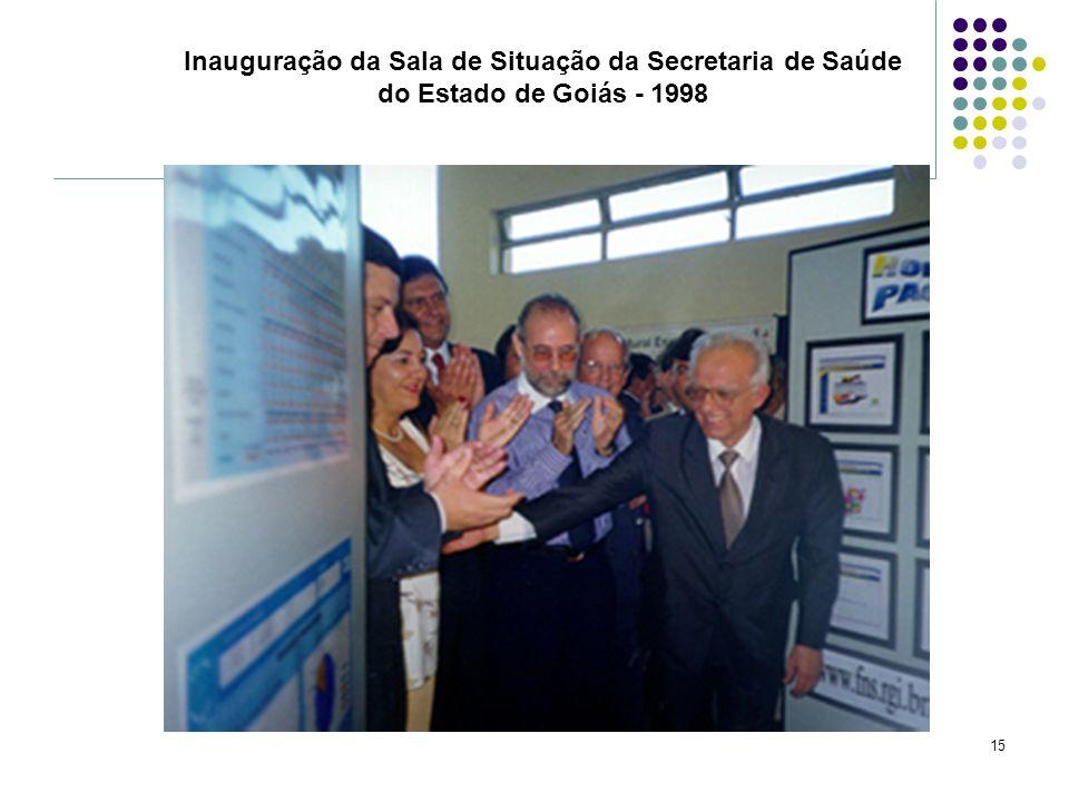 Inauguração da Sala de Situação da Secretaria de Saúde do Estado de Goiás - 1998