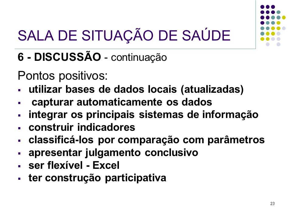 SALA DE SITUAÇÃO DE SAÚDE