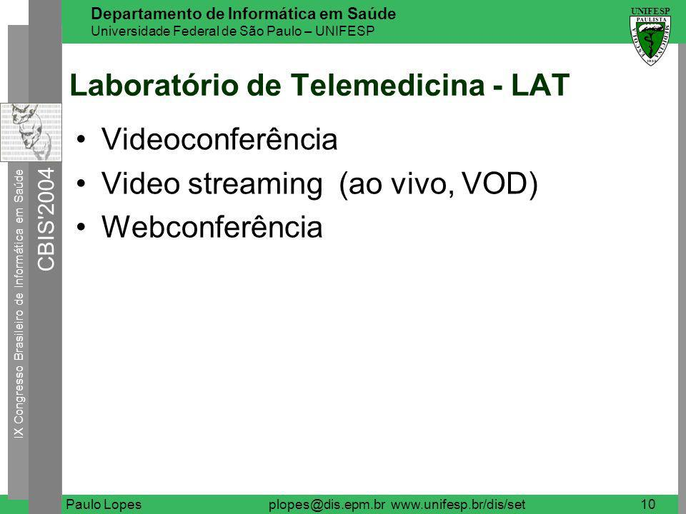 Laboratório de Telemedicina - LAT