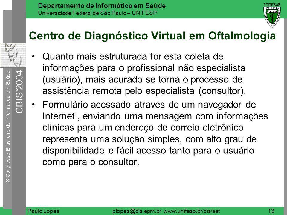 Centro de Diagnóstico Virtual em Oftalmologia