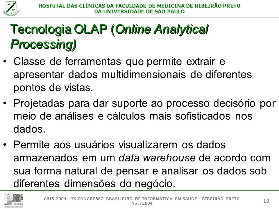 Tecnologia OLAP (Online Analytical Processing)