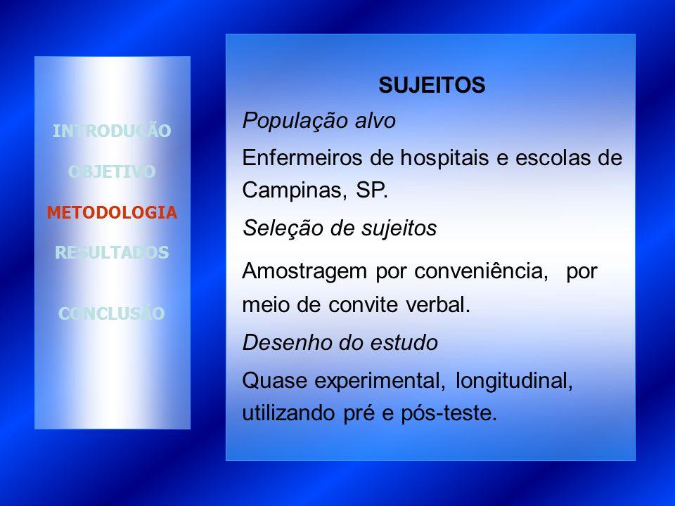 Enfermeiros de hospitais e escolas de Campinas, SP.