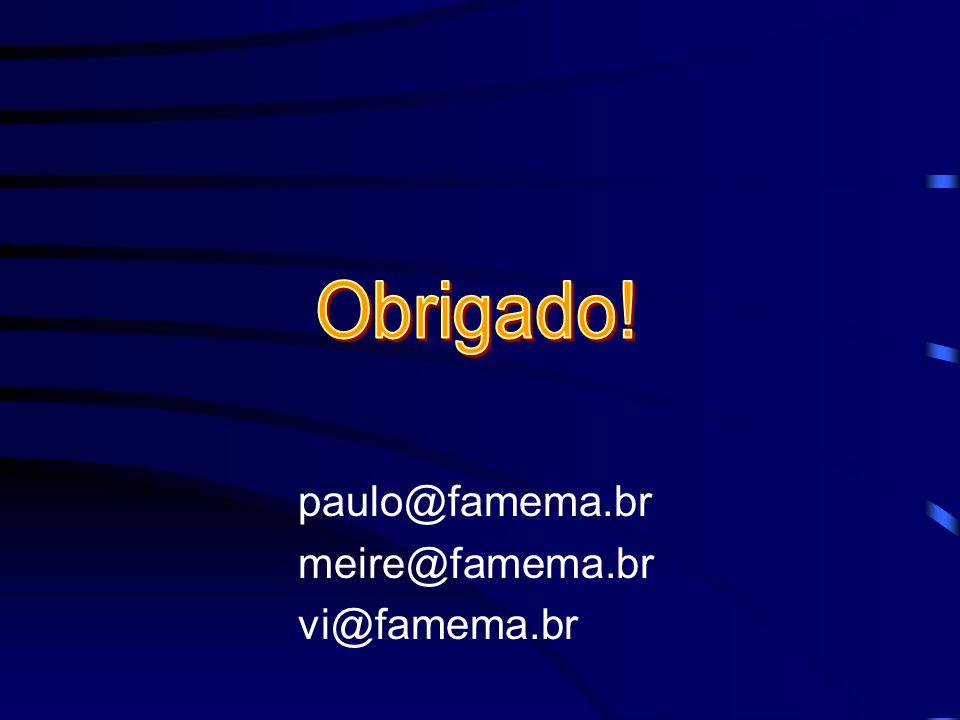 Obrigado! paulo@famema.br meire@famema.br vi@famema.br