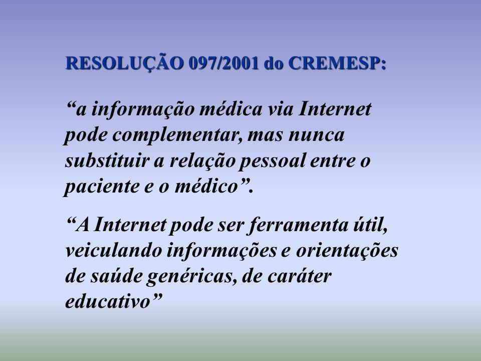 RESOLUÇÃO 097/2001 do CREMESP: