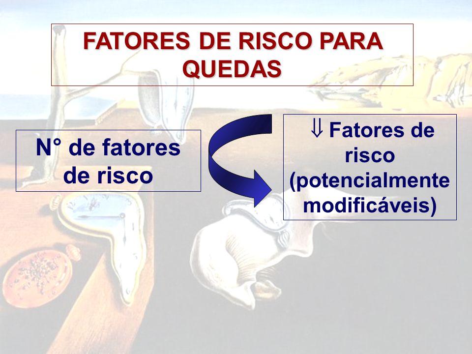 FATORES DE RISCO PARA QUEDAS