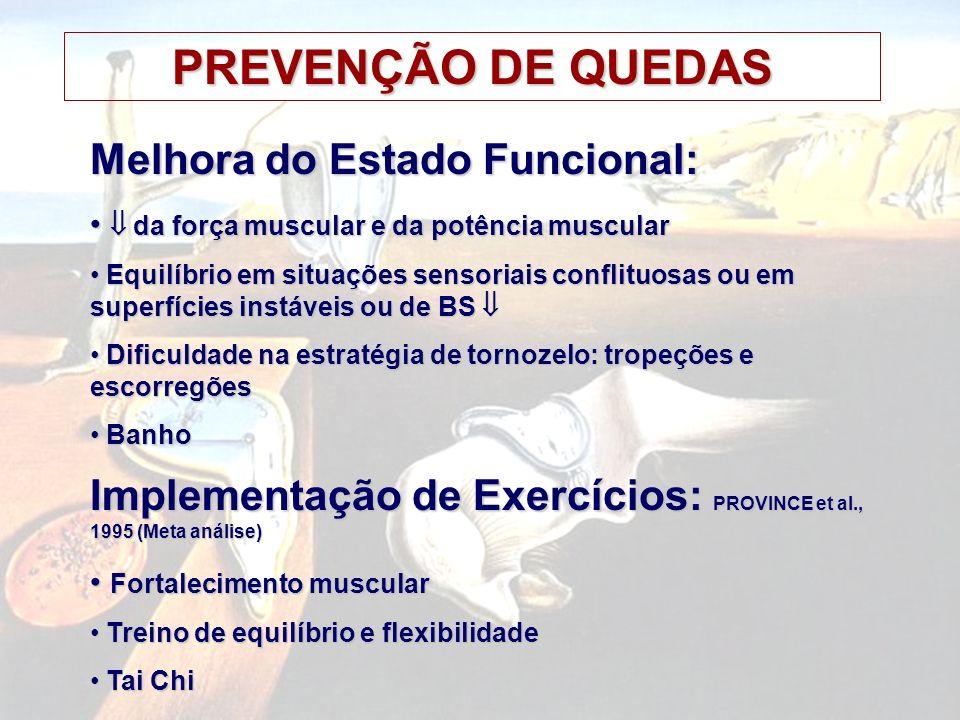 PREVENÇÃO DE QUEDAS Melhora do Estado Funcional:
