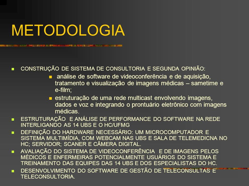 METODOLOGIA CONSTRUÇÃO DE SISTEMA DE CONSULTORIA E SEGUNDA OPINIÃO: