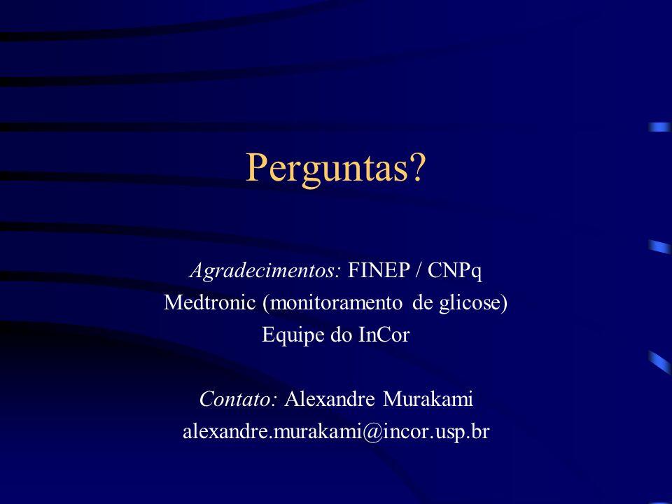 Perguntas Agradecimentos: FINEP / CNPq