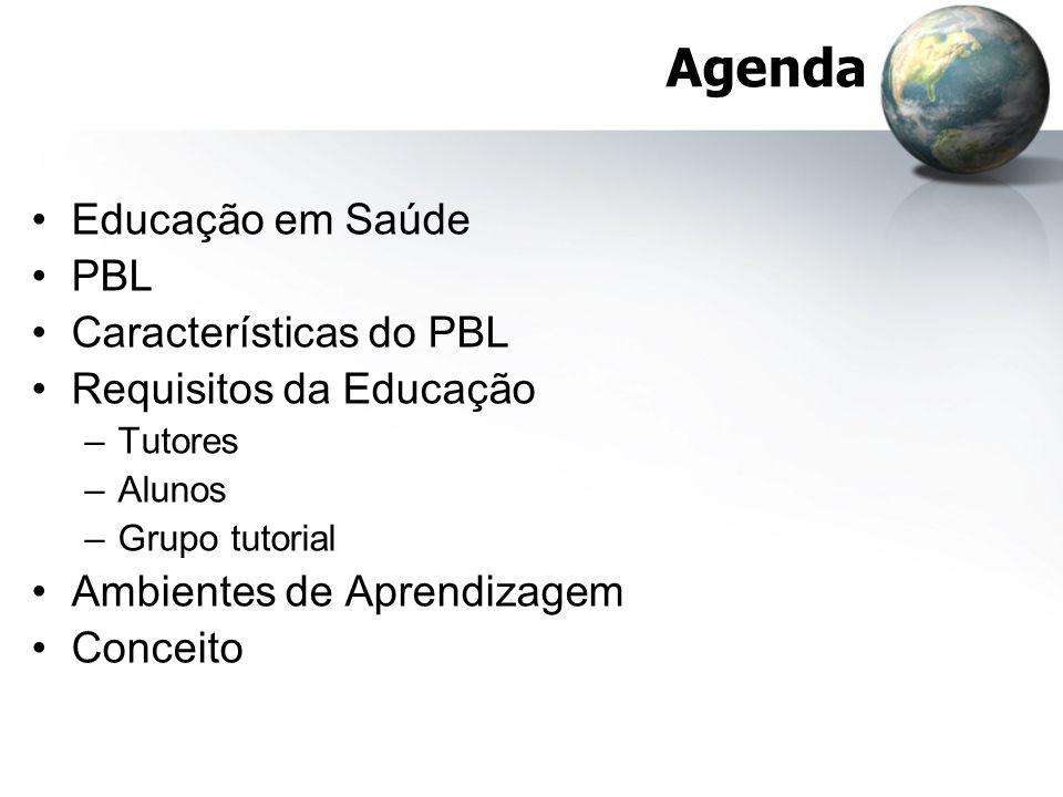 Agenda Educação em Saúde PBL Características do PBL