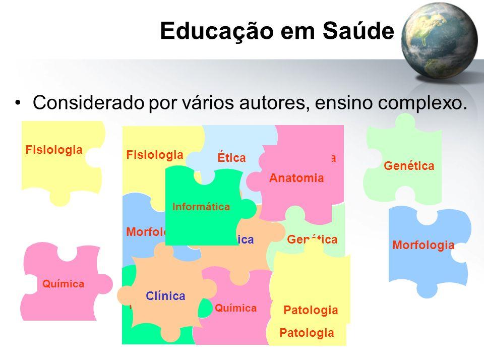 Educação em Saúde Considerado por vários autores, ensino complexo.