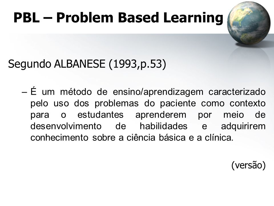 PBL – Problem Based Learning