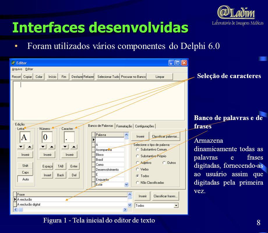 Figura 1 - Tela inicial do editor de texto