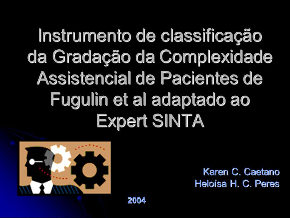 Instrumento de classificação da Gradação da Complexidade Assistencial de Pacientes de Fugulin et al adaptado ao Expert SINTA