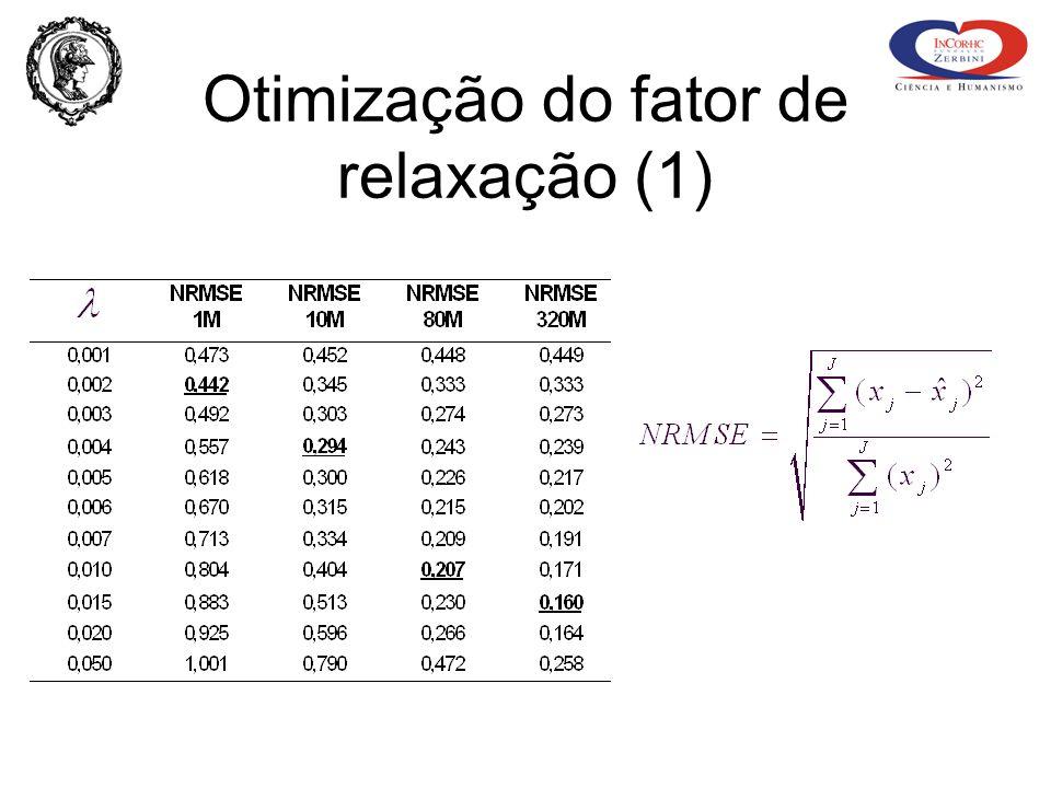 Otimização do fator de relaxação (1)