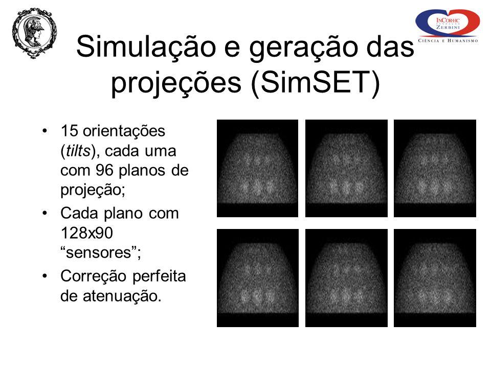 Simulação e geração das projeções (SimSET)