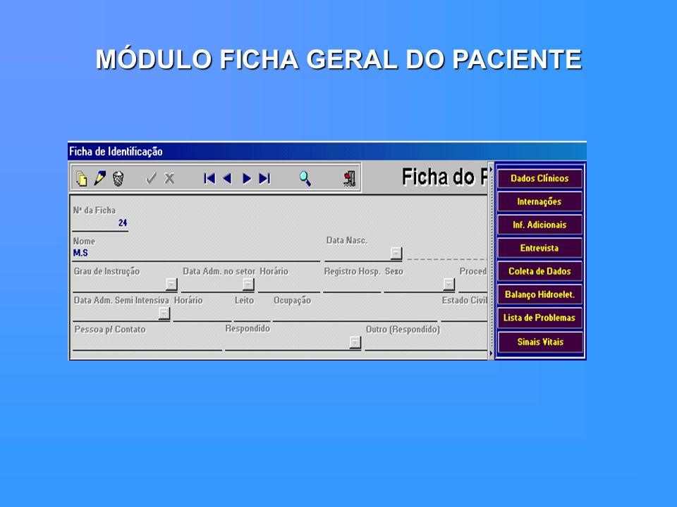 MÓDULO FICHA GERAL DO PACIENTE