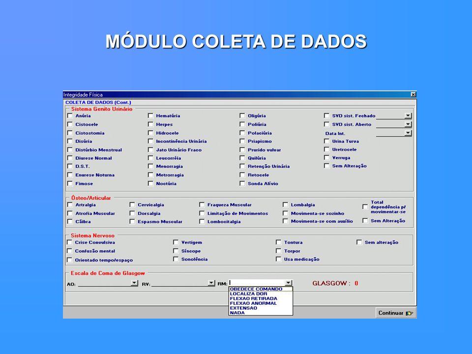 MÓDULO COLETA DE DADOS