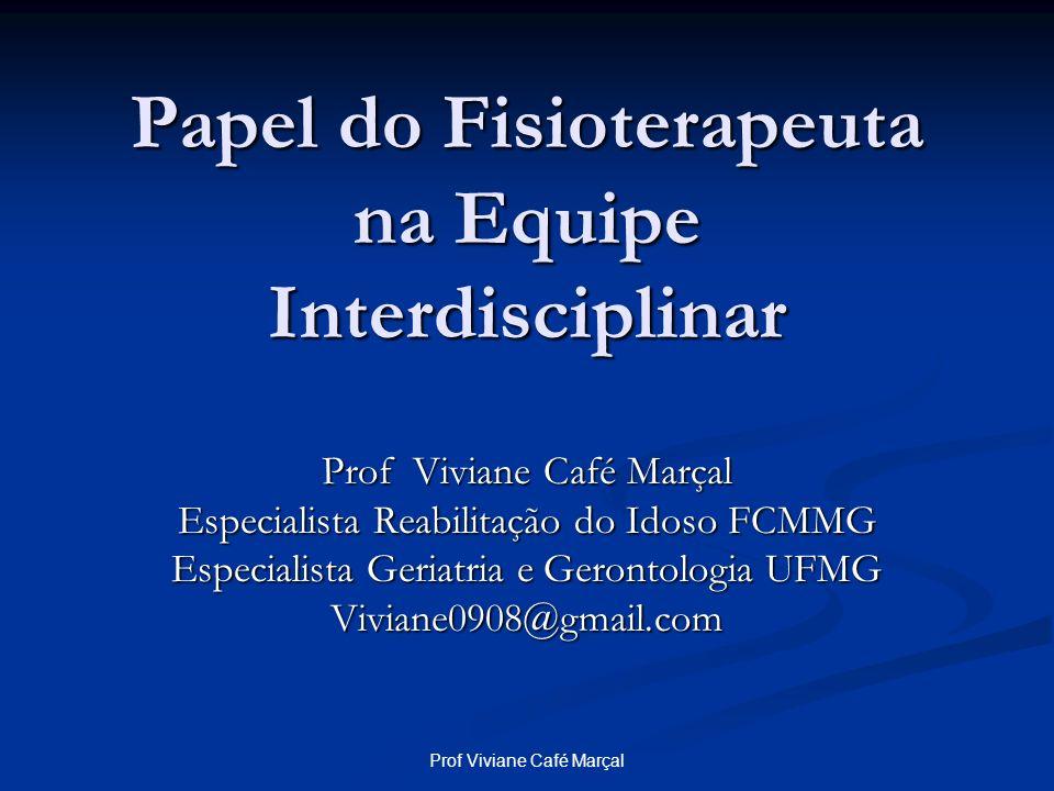 Papel do Fisioterapeuta na Equipe Interdisciplinar
