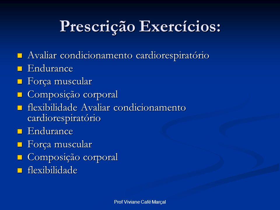 Prescrição Exercícios: