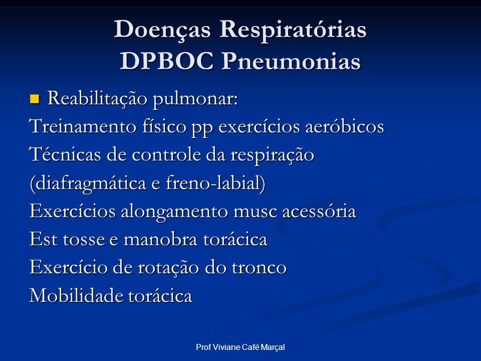 Doenças Respiratórias DPBOC Pneumonias