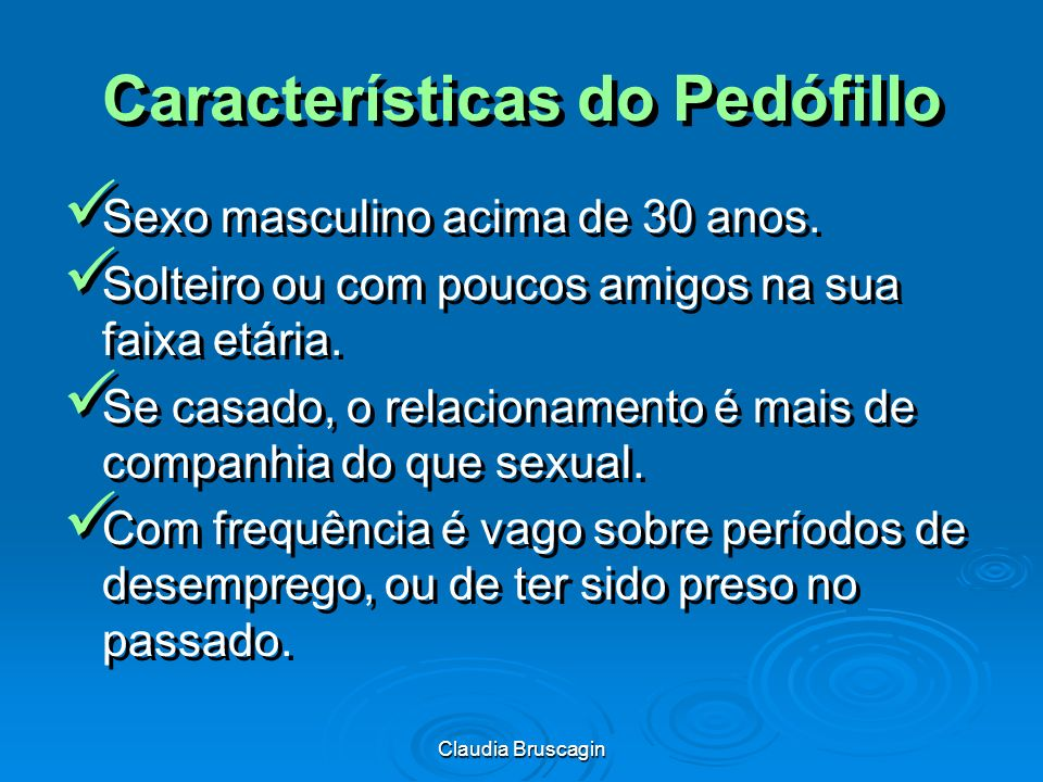 Características do Pedófillo