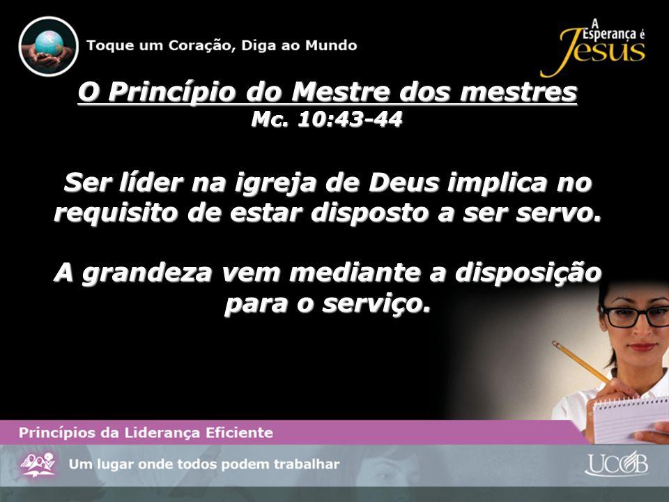 O Princípio do Mestre dos mestres