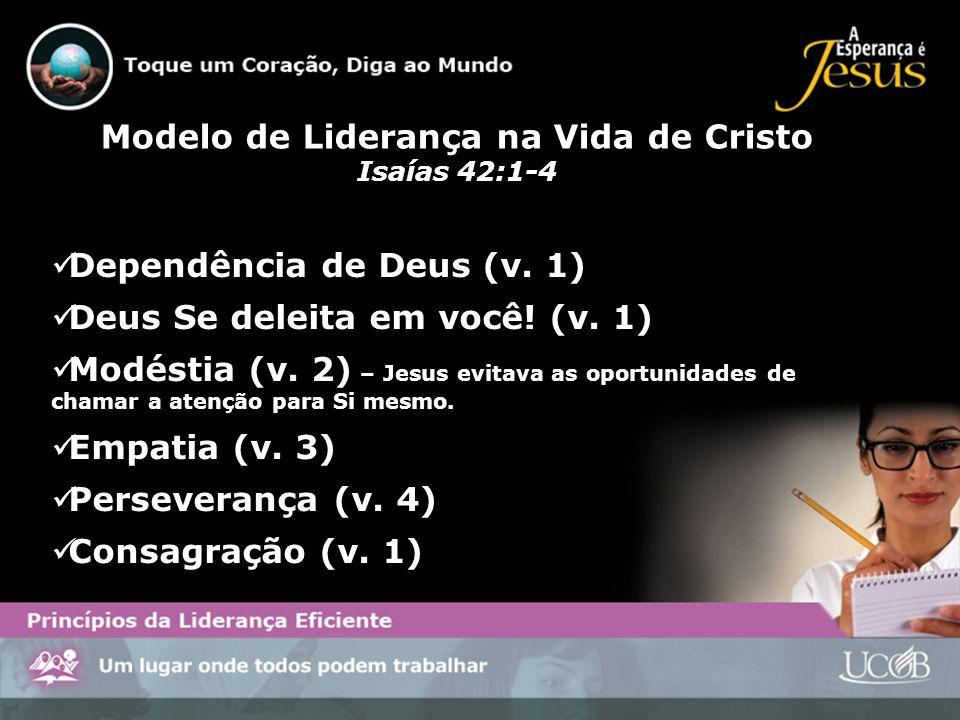 Modelo de Liderança na Vida de Cristo