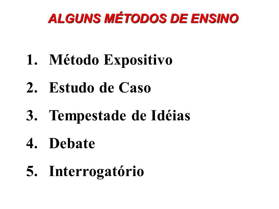 ALGUNS MÉTODOS DE ENSINO