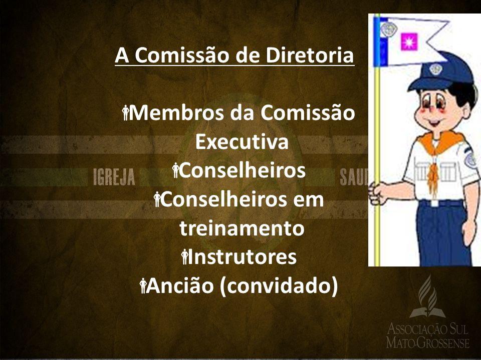 A Comissão de Diretoria Membros da Comissão Executiva Conselheiros