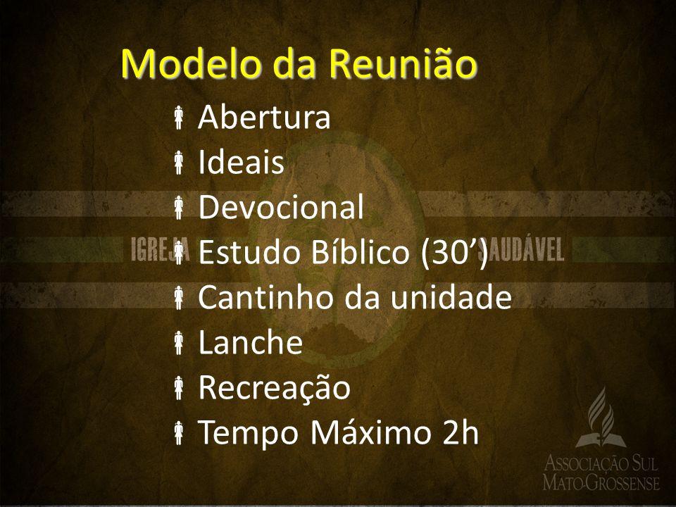 Modelo da Reunião Abertura Ideais Devocional Estudo Bíblico (30')