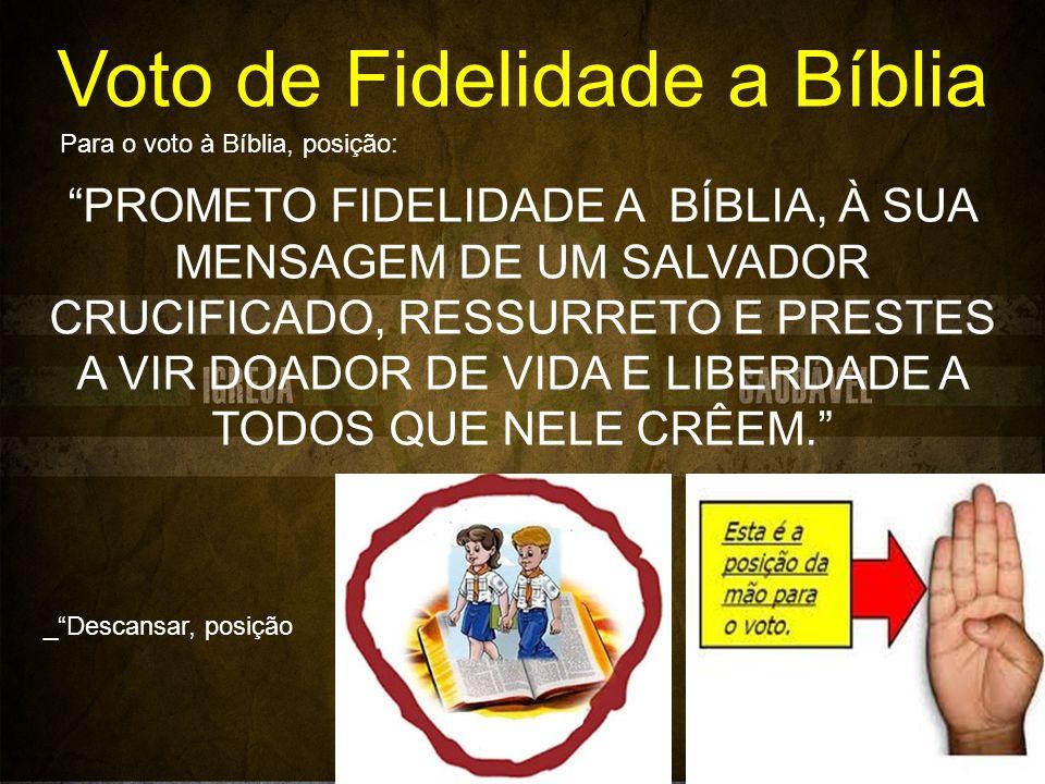 Voto de Fidelidade a Bíblia