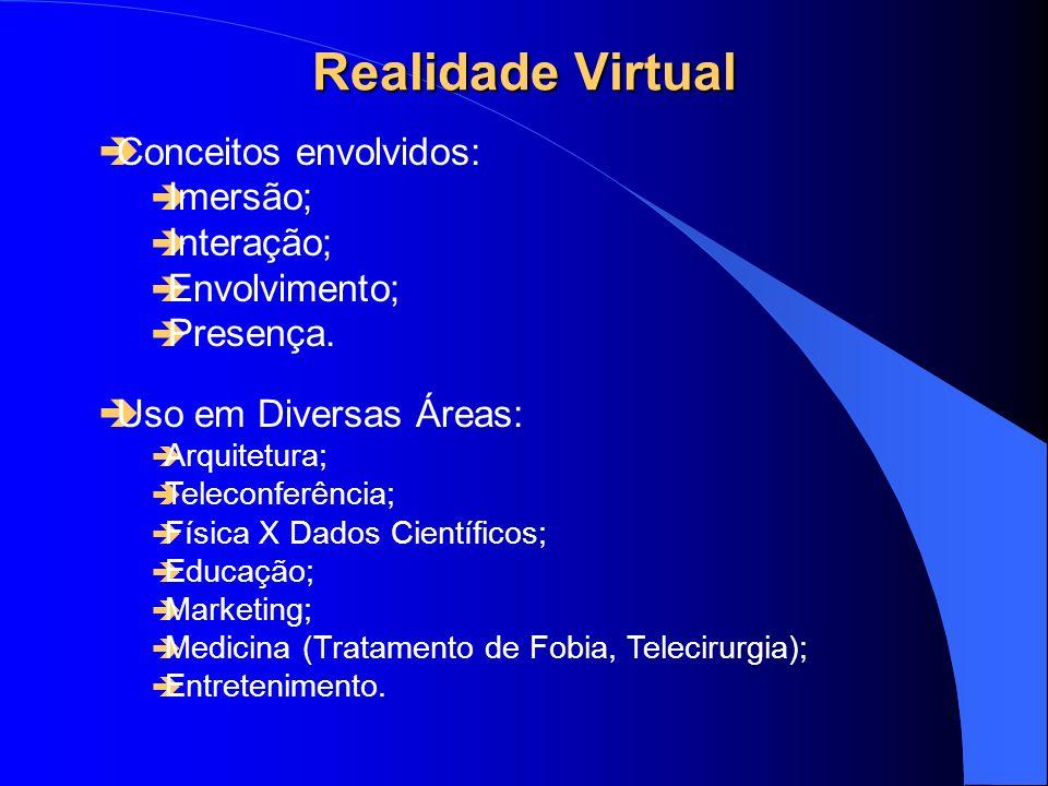Realidade Virtual Conceitos envolvidos: Imersão; Interação;