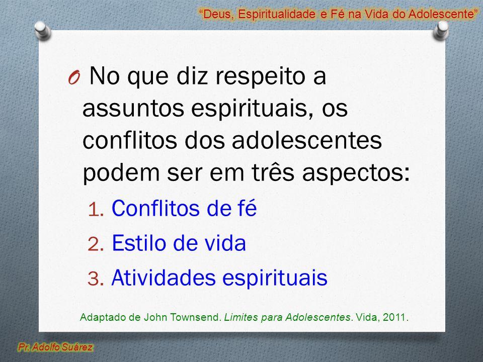 Adaptado de John Townsend. Limites para Adolescentes. Vida, 2011.