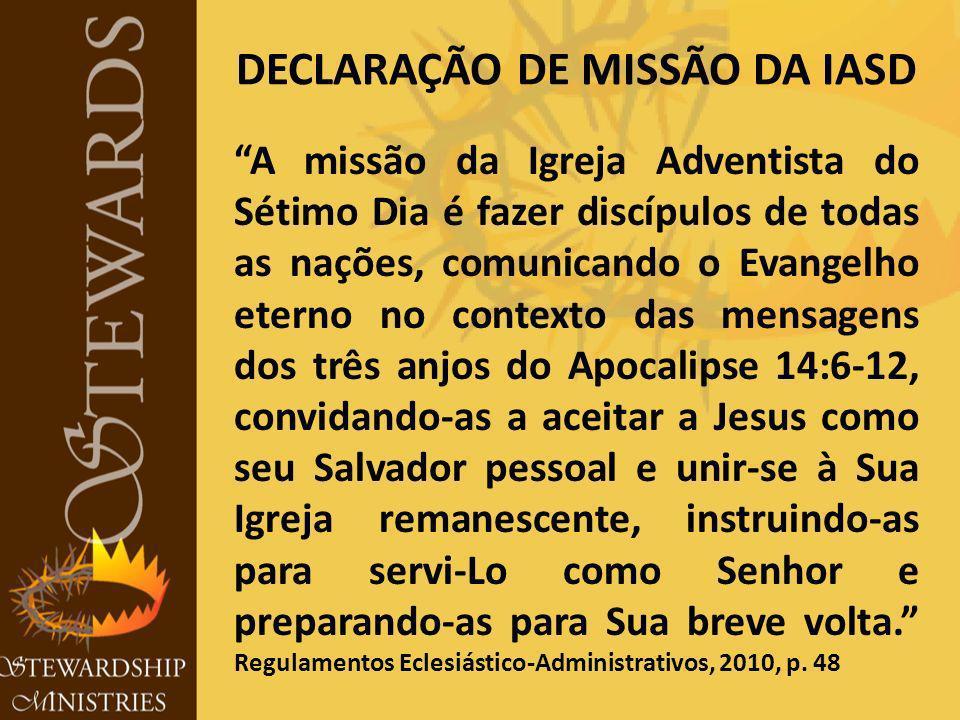 DECLARAÇÃO DE MISSÃO DA IASD