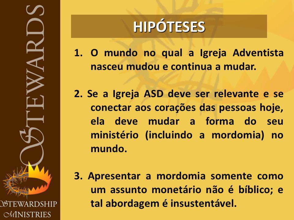HIPÓTESES O mundo no qual a Igreja Adventista nasceu mudou e continua a mudar.