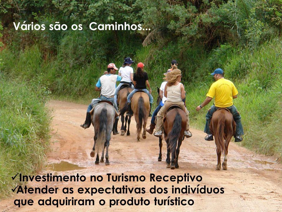 Vários são os Caminhos... Investimento no Turismo Receptivo. Atender as expectativas dos indivíduos.
