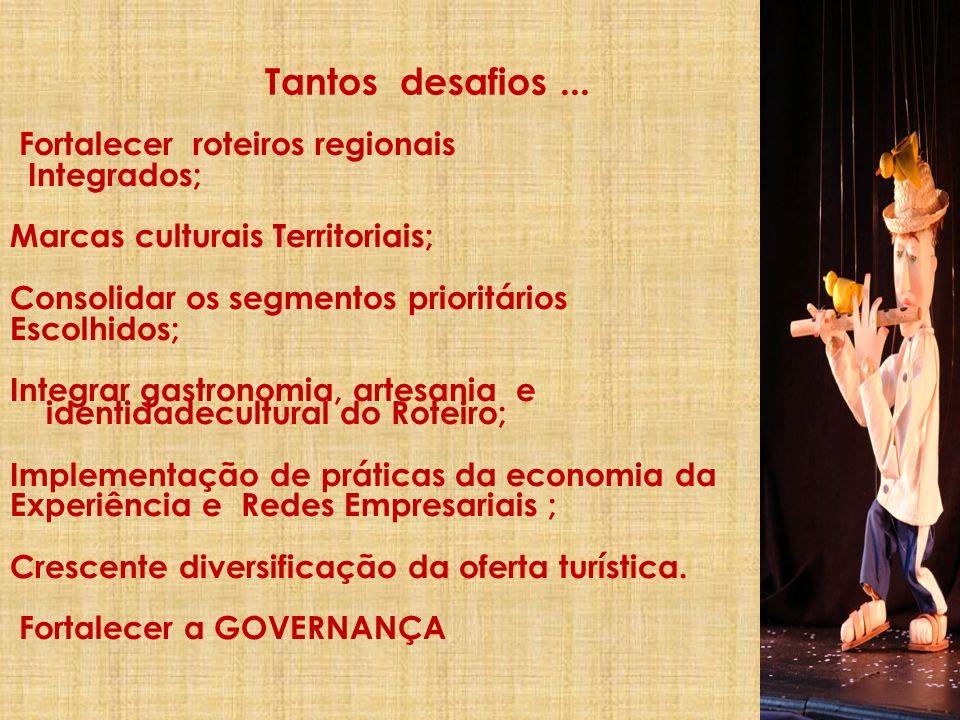 Tantos desafios ... Fortalecer roteiros regionais Integrados;