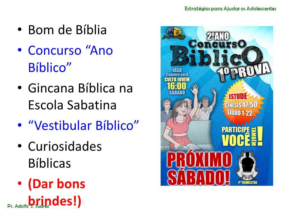Concurso Ano Bíblico Gincana Bíblica na Escola Sabatina