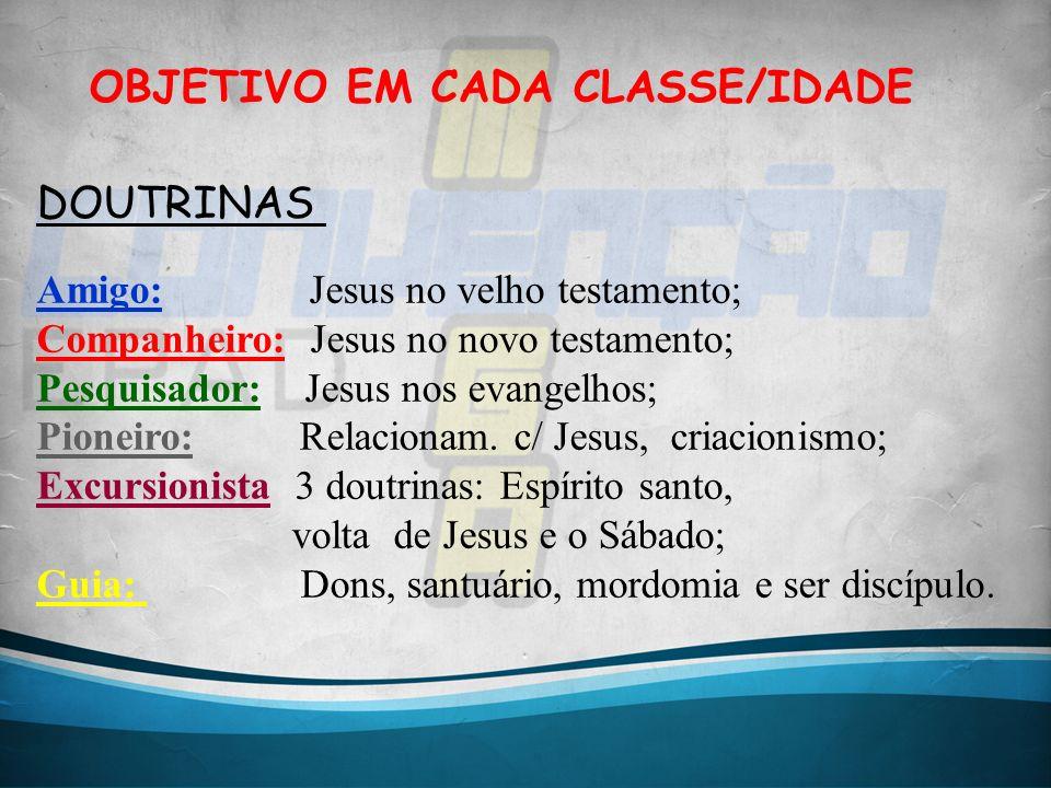OBJETIVO EM CADA CLASSE/IDADE