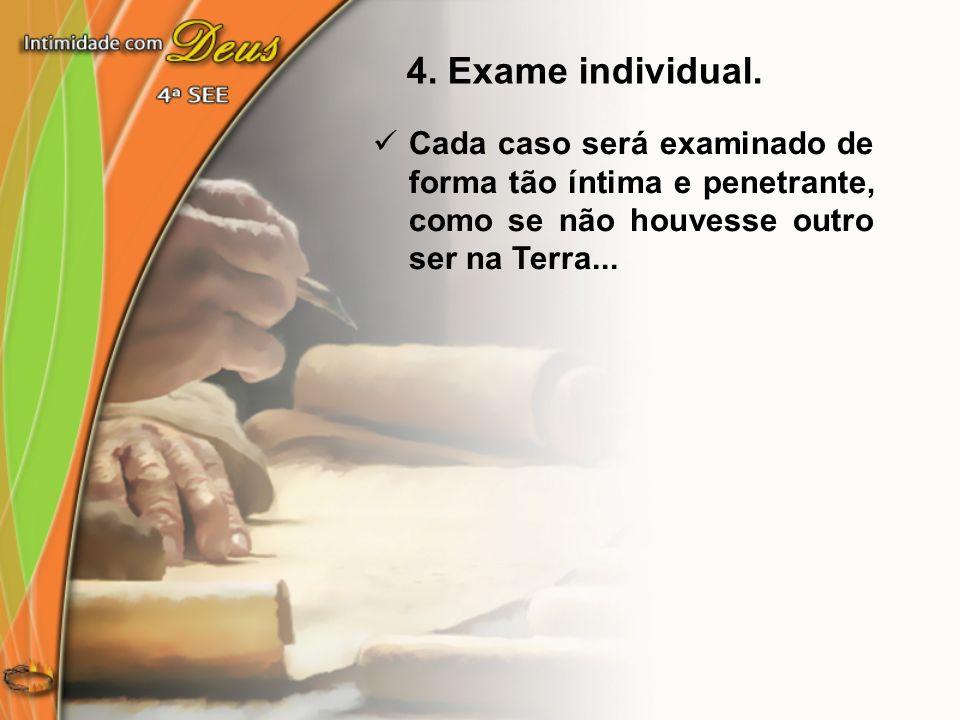 4. Exame individual.