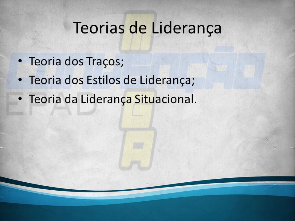 Teorias de Liderança Teoria dos Traços;