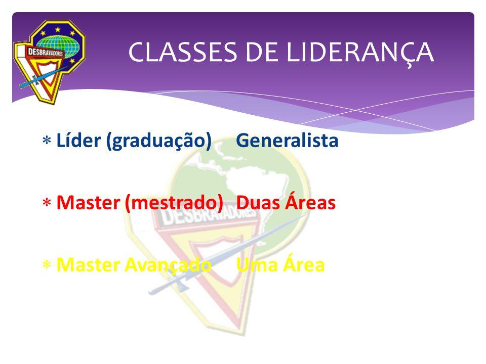 CLASSES DE LIDERANÇA Líder (graduação) Generalista